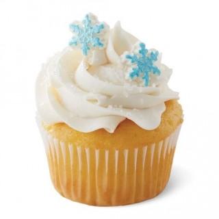 Mini flocon de neige bleu et blanc en sucre