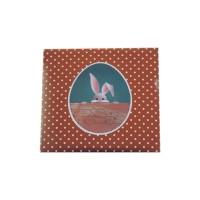 Feuille imprimée pour tablette carrée - Lapin