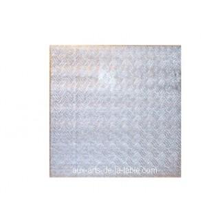 Carton plateau carré argenté 8 x 0.5''
