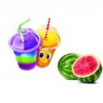Sirop pour barbotine ( slush ) - Melon d'eau