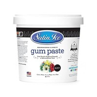 Gumpaste ( pastillage ) Satin Ice - Noir 2 lb