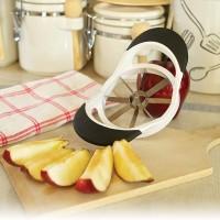 Coupe et vide pomme
