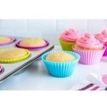 Moule à muffin / cupcake en silicone pastel