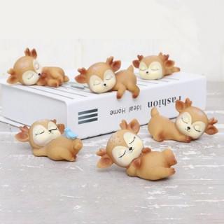 Figurines Petit cerf / renne endormi