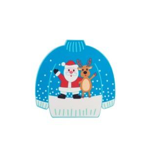 Gros chandail Père Noël et renne en sucre
