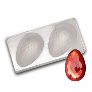 Moule en polycarbonate Demi oeuf diamant 14 cm