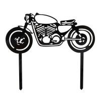Ornement Acrylique noir - Moto