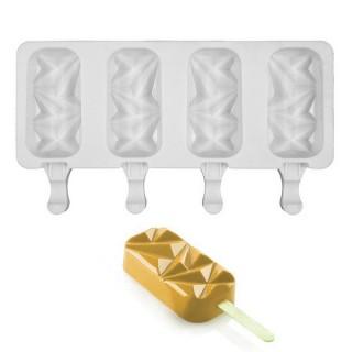 Moule à pops glacé - Géométrique 4 cavités