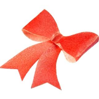 ***RED*** Boucle en papier de riz comestible - Rouge métallique