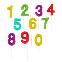 Chandelles Chiffre coloré 0 à 9