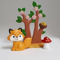 Figurines Petit renard en forêt