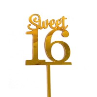 Ornement Acrylique or - Sweet 16