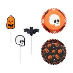 Moule en papier et pick Halloween