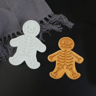 Découpoir embosseur Squelette Bonhomme de pain d'épice