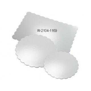 Carton rectangulaire dentelé argenté