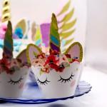 Wrap à cupcake Licorne