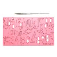 Embosseur en acrylique Alphabet minuscule et chiffre H Potter