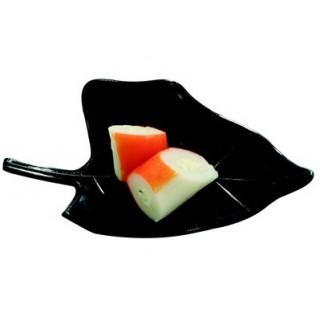 Assiette Feuille noire