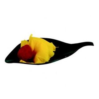 Assiette Pétale noire
