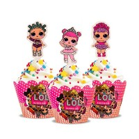 Wrap à cupcake et pick Poupée L.O.L.