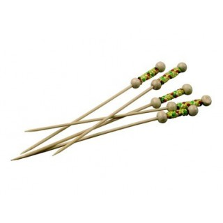 Brochette bambou Perles