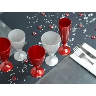 Flûte à champagne Rouge carmin