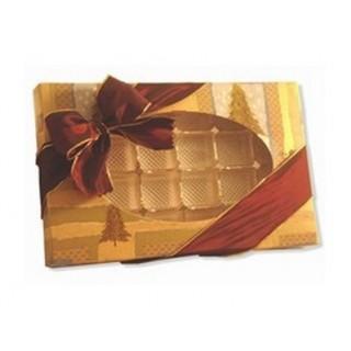 Boite pour chocolat Sapin doré 24 morceaux