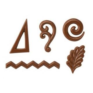 Moule Les décorations chocolatées