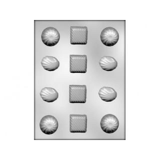 Moule Rond, carré et coquillage