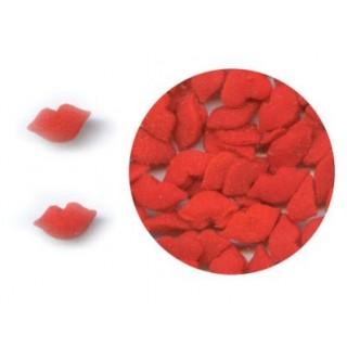 Mini lèvres rouge en sucre
