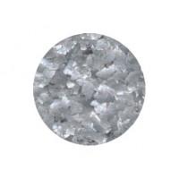 Flocon scintillant gris métallique