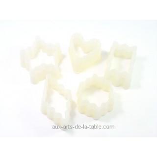 Découpoirs Petits fours dentelés no2 - 5 pc