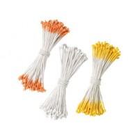 Pistilles de fleurs Orange, jaune, blanc
