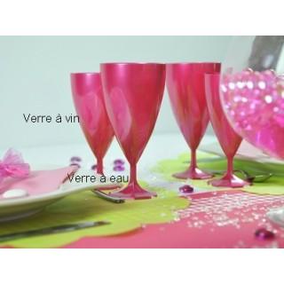 Verre à vin Rose Magenta