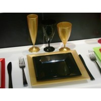 """Assiette carrée Ébène 7"""""""