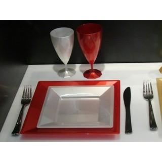 """Assiette carrée Nacre 7"""""""