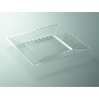 """Assiette carrée Cristal 7"""""""