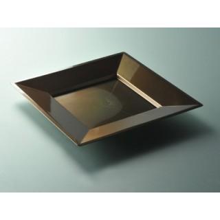 """Assiette carrée Chocolat 9.5"""""""