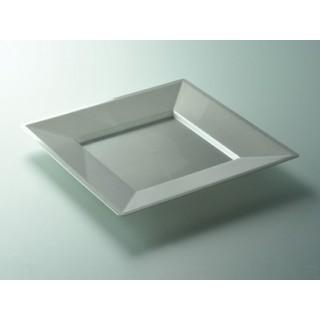 """Assiette carrée Argent 9.5"""""""