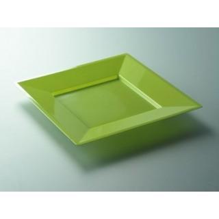 """Assiette carrée Anis 9.5"""""""