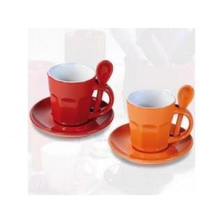 Tasses à café Intermezzo - Rouge et orange