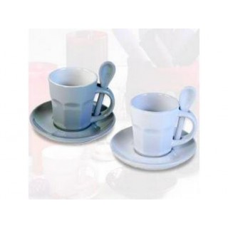 Tasses à café Intermezzo - Blanche et grise