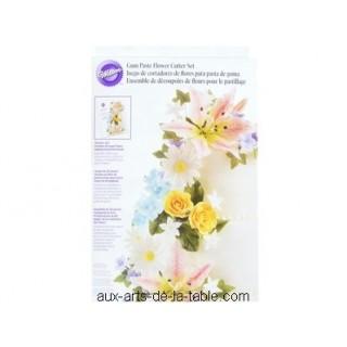 Ensemble de découpoirs de fleurs pour le pastillage