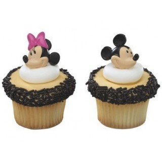 Bagues Mickey et Minnie Mouse