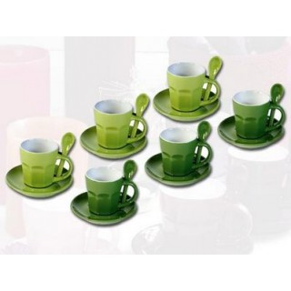 Tasses à expresso Intermezzo - Verte pâle et verte foncée