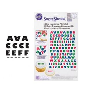 Feuille de sucre - Alphabet noir