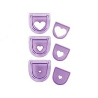 3 emporte-pièces pour poinçon - Coeur