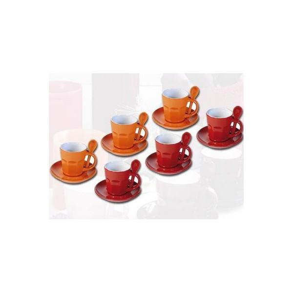 tasses expresso intermezzo rouge et orange. Black Bedroom Furniture Sets. Home Design Ideas