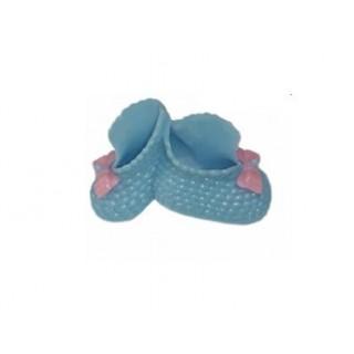 Chausson bleu de bébé