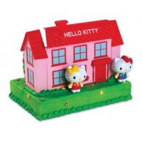 Maison et figurines Hello Kitty